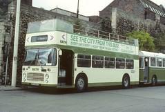 Bristol Omnibus 8608 UFX860S Bath Bus Station 24May1984 S7504 (australia3393) Tags: bristolomnibuscompany bath guidefriday 8608 710 southernvectis 3379 hantsdorset ufx860s opentop bus