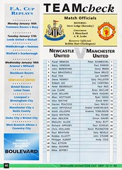 Newcastle United vs Manchester United - 1994 - Back Cover Page (The Sky Strikers) Tags: newcastle united manchester st james park fa carling premiership official programme one pound fifty