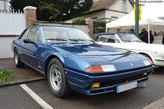 Ferrari 400i (Monde-Auto Passion Photos) Tags: voiture vehicule auto automobile ferrari 400i berline bleu blue sportive rare rareté ancienne classique collection rassemblement france courtenay