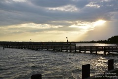 Last rays on a windy day (lauren3838 photography) Tags: laurensphotography lauren3838photography landscape waves water waterscape river patuxent calvertcounty md maryland marylandphotographer nikon d750 tamron tamron2875mm28 sky clouds solomons sunset pier