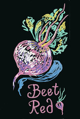 Beet Red (Life Imitates Doodles) Tags: blackpaper brushpen beets