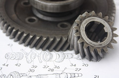 """Pinion / Number 42. """"Things with Teeth""""!!!. (Yesteryear-Automotive) Tags: thingswithteeth smileonsaturday bmc classicmini austin morris minicoopers minigearboxparts diffgears gears crownwheelpinion coopersdiff"""