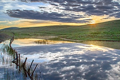 Prairie Dawn (Gary Grossman) Tags: sunrise zumwalt prairie landscape northwest oregon dawn clouds pond reflection mist fog morning serene serenity nature beauty garygrossman garygrossmanphotography zumwaltprairie landscapephotography pacifcnorthwest natureconservancy naturephotography