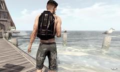 Beach House (Sadwolf SL Photos) Tags: man cave event mancave slblogger beash seagul sea backpack shorts kalback