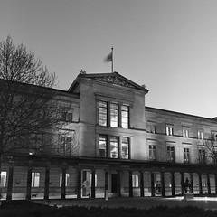 Neues Museum (csobie) Tags: bronicasqa 50mmf35s ilford hp5 film analog mediumformat 120 6x6 blackandwhite architecture scan epson v600 night evening city berlin germany museum neues
