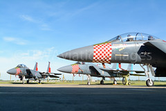 48th Fighter Wing Heritage Jets-2 (JTW Aviation Images) Tags: boeing f15e strike eagle f15c raf lakenheath liberty wing 48th fighter 48fw 492nd 493rd 494th bolars madhatters grim reapers panthers d75th anniversary dday heritage scheme jets aviation suffolk england united kingdom states air force usaf usafe