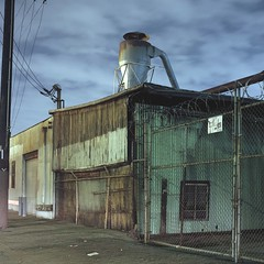 Industrial flats (ADMurr) Tags: la eastside night hasselblad kodak ektar dad350