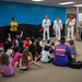 Navy Band answer questions from kids at the North Side YMCA during Oklahoma City Navy Week 2019.