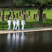 Sailors walk along the Oklahoma City Memorial following a wreath laying ceremony during Oklahoma City Navy Week.