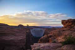 Dam Sunset (CraDorPhoto) Tags: canon5dsr landscape outside outdoors usa arizona clouds sky sunset blue dam