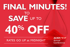 Final Minutes to SAVE up to 40% OFF (ACRM-Rehabilitation) Tags: acrmconference acrmprogressinrehabilitationresearchconference acrm annualconference acrm|americancongressofrehabilitationmedicine medicaleducation medicalconference medicalassociation continuingeducationcredits cmeceu rehabilitation rehabilitationresearch scientificresearch scientificpaperposters science acrm2019