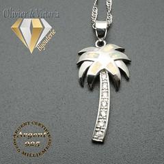 Pendentif palmier d'opale de feu en argent 925 (olivier_victoria) Tags: argent 925 pendentif chaine opale de feu palmier