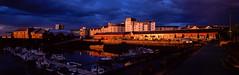 Stormy Harbour Light (bnrynlds) Tags: fuji g617 velvia50 velvia 6x17 edinburgh