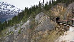 Tunnel - White Pass, Railroad - Skagway, Alaska, AK, USA - 0688 (rivai56) Tags: entrée du train dans le tunnel de la montagne whitepass railroad skagway alaska ak usa 0688