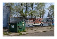 Dump (TooLoose-LeTrek) Tags: detroit dumpster green graffiti street
