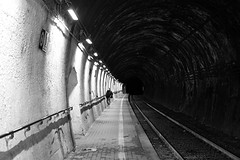 . (just.Luc) Tags: tunnel rails railway spoorweg chemindefer bn nb zw monochroom monotone monochrome bw italia italy italien italie italië ligurië liguria ligurie ligurien italiaanserivièra italienischeriviera italianriviera rivieraligure ligurischezee marligure liguriansea merligurienne ligurischesmeer europe europa