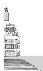 Kokusai-Dori, Tokyo. April 2019 (stevefaradaysketches) Tags: kokusaidori tokyo japan urbansketch urbansketchers usk inkdrawing illustration onlocation fineliner penandinksketch zebracrossing streetscene city