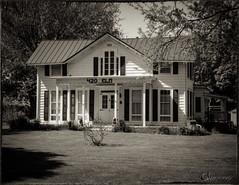 Historic Home (CNygren) Tags: bw film iso200 ae1program westsalem lacrossecounty standdev rodinal175 canonfd3570mm silverefex lacrosserivertrail kentmere100 canoscan9000f bwfp