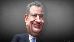 Bill de Blasio - Caricature (DonkeyHotey) Tags: billdeblasio newyorkcity publicadvocate democrat candidate mayor donkeyhotey photoshop cartoon caricature face politics political photomanipulation photo manipulation commentary
