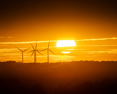 Graveley turbine sunset (Joe Rey Photography) Tags: sunset sunrise graveley cambourne turbines