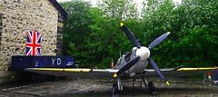 Spitfire (Gerry Hat Trick) Tags: eastlancsrailway castlecroft yard transport museum spitfire working ww2 aircraft airmen airforce fighter plane rollsroyce griffin v12 johnnyjohnson supermarine jej
