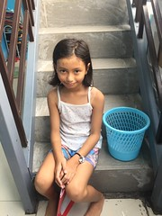 girl on stairs (ghostgirl_Annver) Tags: asia asian girl annver teen preteen child kid daughter sister family portrait stairs bucket summer