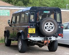 P457 CSB (Nivek.Old.Gold) Tags: 1996 land rover defender 110 tdi county station wagon 2495cc bells rothbury theoaktreegarage