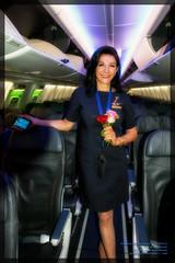 Smiling Joanna - #InternationalFlightAttendantDay #IFlyAlaska (AvgeekJoe) Tags: 737990 737990erwl alaskaair alaskaairlines boeing737 boeing737900 boeing737990 boeing737990erwl d5300 dslr jetliners joannacarlson n275ak nikon nikond5300 aircraft airplane aviation jetliner plane
