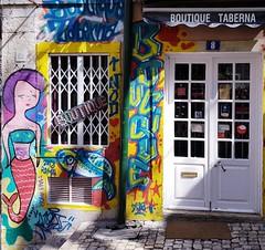 Lisbon (AnaAyana) Tags: boutique lisboa lisbon summer graffitti