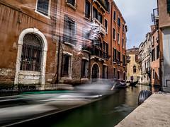Gliding Silently Like A Ghost Through The Canals (derek.dpr) Tags: venice venise venezia italia italy gondola gondolier canal olympus omd em1 on1pics on1 movement appicoftheweek