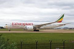 ET-AOP Boeing 787-8 Ethiopian Airlines MAN 31MAY19 (Ken Fielding) Tags: etaop boeing b7878 ethiopianairlines aircraft airplane airliner jet jetliner dreamliner widebody