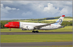 G28A6043FL14 (Gerry McL) Tags: lnlna boeing 7878 dreamliner norwegian aircraft airliner airplane prestwick scotland pik egpk