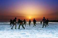 Playing at sunset - Tel-Aviv beach (Lior. L) Tags: playingatsunsettelavivbeach playing sunset telaviv beach