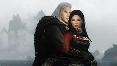 Deadly Romance (Jillian-613) Tags: skyrim tes games screenshot elves elf altmer serana vampire