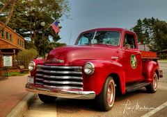 Red Chevy 3100 Pickup (Tom Mortenson) Tags: truck chevy chevrolet 3100 digital canon usa america wisconsin boulderjunction northernwisconsin vehicle restored oldvehicle chevypickup chev geotagged northamerica midwest canoneos canon6d 24105l boulderjunctionwisconsin vilascounty