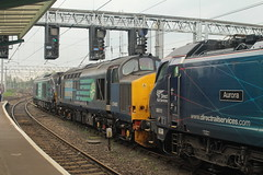 DRS Class 37 No. 37405 at Carlisle - 30th April 2019 (allan5819 (Allan McKever)) Tags: drs diesel loco engine 37405 class37 tractor convoy carlisle cumbria uk england station citadel city westcoastmainline wcml travel transport mainline blue class88