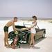 Young couple with scuba gear at Pensacola Beach