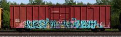 Ksra/They Drift/Wylr (quiet-silence) Tags: graffiti graff freight fr8 train railroad railcar art ksra theydrift wylr ffl uh boxcar cibx cibx173779