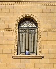 Arched Window (pjpink) Tags: carpet carpetschool elsultancarpetschool rug weaving textiles loom yarn giza egypt january 2019 winter pjpink 2catswithcameras
