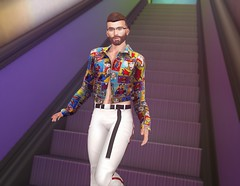 Artpop (EnviouSLAY) Tags: clefdepeau clef de peau colorful comic escalator scene secondlifefashion secondlifephotography miwas pants white belt rainbow brunette beard magificent clubtaketomi taketomi burley gacha glasses blankline belleza jake bento lelutka guy newreleases new releases tmd equal10 themensdepartment the mens department mensmonthly mensfair mensfashion mensevent monthlymen monthlyfashion monthlyfair monthlyevent monthly event fair fashion pale male gay lgbt blogger secondlife second life photography