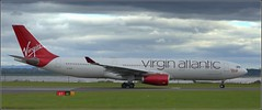 (Liverpool F C exodus to Madrid) Virgin Atlantic Airbus A330-300 (G-VLUV) Liverpool John Lennon Airport 31st May 2019 (Cassini2008) Tags: liverpooljohnlennonairport virginatlanticairbusa330300 gvluv championsleaguefinal2019 aviation aircraft airbusa330