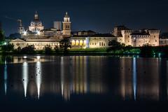 Mantova Skyline (Andrea Bottoli) Tags: mantova mantua skyline night lights pentaxk3ii