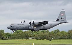 """""""herky766"""" usaf ramstein c-130j-30 15-5822 landing at shannon 31/5/19. (FQ350BB (brian buckley)) Tags: herky766 usaf ramstein c130j30 155822 einn"""