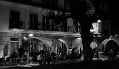 Two worlds so far apart -- A summer night in Covilhã (lebre.jaime) Tags: portugal beira covilhã café nightphotography digital ff fx fullframe bw blackwhite noiretblanc pb pretobranco nikon d600 voigtländer nokton 58f14sliis ptbw affinity affinityphoto
