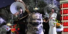 #80 - Lanterns and Lights (Yvain Vayandar) Tags: weloveroleplay wlrp event secondlife sl asian lantern lights dragon night fantasy roleplay rol ancient gabriel kuni dappa kisetsu wrong speakeasy yokai secretposes love drd happymood
