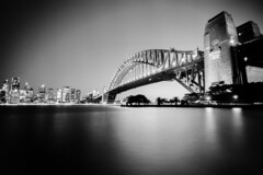 Sydney (Bill Thoo) Tags: sydney nsw newsouthwales australia bridge harbour sydneyharbour sydneyharbourbridge night longexposure dark city urban cityscape citylights lights lightstreak monochrome bnw blackandwhite blackandwhitefilm blackandwhitefilmphotography film analog analogue filmcamera filmphotography analogphotography analoguephotography 35mm 35mmfilm 35mmfilmcamera 35mmfilmphotography kodak 2238 kodak2238 olympus om1 olympusom1 1835