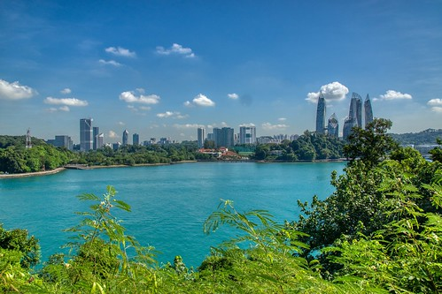 Keppel Bay seen from Fort Siloso on Sentosa island in Singapore