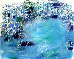 Soft Rain / Water Garden (Suz .. Abstract Art) Tags: art painting beauty flower water garden diamond flowers love decor interior decoration abstract blue green violet acrylic action beautiful brush canvas color contemporary creative design expressive harmony joy joyful lovely mixedmedia modern oil paint sapphire silver stroke white ocean