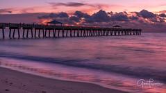 Floridays (Thüncher Photography) Tags: fujifilm gfx50s mediumformat scenic landscape waterscape oceanscape beach tropical pier sky clouds colors reflections sunrise fineartphotography longexposure junobeach junobeachpier jupiter florida southeastflorida