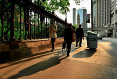 Nikon D600 (PeterLeDoux) Tags: tourists hotels banner architecture clocktower fence sidewalk sunshine morning shadows wideangle nikond600 af zoomnikkor 1835mm f3545d ifed toronto litter